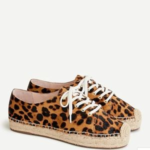 J.Crew Espadrille sneakers in leopard calf hair 11